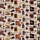 CHOCOLATE VINYL PVC OILCLOTH WIPE CLEAN TABLECLOTH CO click for sizes