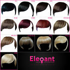 FRINGE BANGS Clip In On Hair Extensions STRAIGHT - CHOOSE ANY COLOUR - PREMIUM