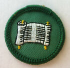Girl Scout 1963-1980 Junior WRITER BADGE Scroll Journalist Writing Patch CHOOSE!