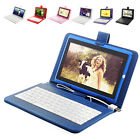 """7"""" Android 4.0 8GB TFT Tablet PC WIFI Multi-Core Dual Camera W USB Keyboard Case"""