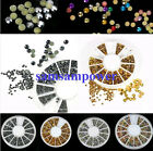 2mm 3mm 4mm Round Metal 3D Nail Art Alloy Stud Decoration Rhinestone Studs Wheel