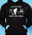 Crown Green Bowling T-Shirt Great Gift Idea Sorted Bowls Xmas Mens Hoodie Hoody