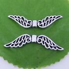 5/10/100Pcs Tibetan Silver Hollow Fancy Angel Wing Charms Spacer Beads 52mm P231