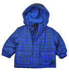 Faded Glory Infant Boys Plaid Blue 3 In 1 Outerwear Coat Size 12M 18M 24M