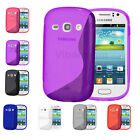 S Line Wave Gel Case Cover For Samsung Galaxy Fame S6810 Free Screen Protector