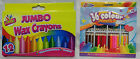 Jumbo wax Crayons And Colour Pencils. Assorted Colours, Non-Toxic