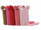 3D Cute Fluffy Heart Tail Cat TPU Skin Phone Case Cover for Apple iPhone 5 5S
