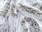 Faux fur Fabric - Chocolate White Tip 30mm Pile - Mohair bears - Artist Bear