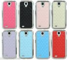 New Padded Chrome Edge Leather Case Cover - Samsung Galaxy S4 i9500