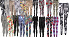 WOMEN LADIES STRETCH LEGGING LADIES MULTI COLOURS PRINTED FULL LENGTH LEGGING