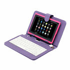 "16GB iRulu 7"" Google Android 4.4 Tablet PC Quad Core Camera WiFi Pink + Keyboard"