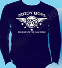 Teddy Boy Homage T-Shirt Long Sleeve Rock And Roll Cafe Racer The 50's Fifties