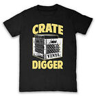 CRATE DIGGER VINYL JUNKIE DJ RECORDS MENS LADIES T SHIRT TEE ALL SIZES & COLOURS