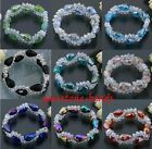 Faceted Crystal Glass Beads Teardrop Fashion Bracelet  Elastic Jewelry Gift New