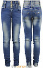 NEW LADIES SKINNY SLIM FIT STRETCHY HIGH WAISTED JEANS WOMENS TROUSERS