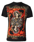 Darkside Clothing Playing Card Vintage Queen of Hearts Short Sleeved Shirt