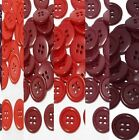 "19mm 3/4"" sz 30 plastic 4 hole coat suit shirt red 100-1000 buttons wholesale"