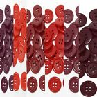 "15mm 5/8"" SZ 24 Plastic 4 Hole Coat Suit Shirt RED 10-90 buttons Discount"