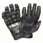 Rayven Talon 100% Leather Motorcycle Motorbike Summer Gloves Carbon Knuckles