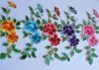 5pcs Motif color Embroidered flower sewing diy patch clothes iron on Appliques