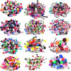 50 x Stainless Steel Ball Top Lip Studs Tragus Ear Rings Monroe Bars Labret