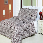 Luxury Egg Shell & Wine Color Tustin Print Pattern Egyptian Cotton Duvet Cover