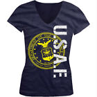 U.S.A.F. - United States Of America Air Force Seal Girls Junior V-Neck T-Shirt