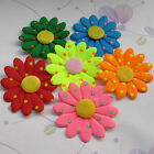 E214 Lots Upick Padded Sun Flowers DIY Craft Wedding Appliques Sewing 20/100Pcs