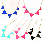 Vogue Punk Style Glazed Triangle Collar Bib Choker Necklace Candy 4 Color