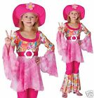 60s Hippy Fancy Dress Girls Hippy Hippie Festival Fancy Dress Costume 4-12 yrs