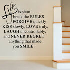DIY Art Lettering Vinyl Quote Words Wall Sticker Decal Mural Home Kids Decor