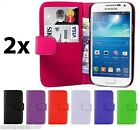 2x New Wallet Leather Case Cover - Samsung Galaxy S4