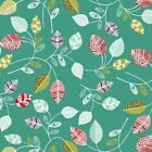 Wildwood - Leaves - Teal - 100% Cotton, Fat Quarter, Meters, Sew Quilt Crafts