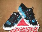 NEW VANS TORY BOX PLAID SKATE SHOE BLK/BLUE/PINK GIRLS SZ 12.5,13.5, 3