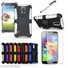 PREMIUM HARD STAND CASE FOR VARIOUS SAMSUNG PHONES + STYLUS + SCREEN GUARD