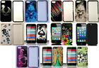 Phone Cover Snap-On DESIGN Case + SCREEN PROTECTOR FOR Apple iPhone 5 / 5g / 5s