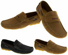 Gents Leather SEAFARER Casual Slip On Moccasin Sailing Summer Holiday Deck Shoes