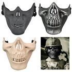 New Skull Skeleton Airsoft Paintball BB Gun Half Face Game Protect Mask Party