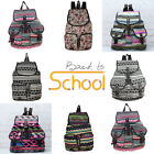 Fashion Women Girl Vintage Floral Casual Canvas Sports School Bag Backpack