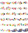 New 1 Box Bluk Lady's Mixed Lots Resin Multi Color Lovely Jewelry Stud Earrings