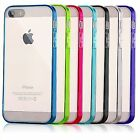 Apple iPhone 5 / 5s Case Hard Clear TPU w/ Dust Plug Cover Protector SE (2016)