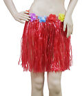 FLORAL HAWAII HULA FANCY DRESS FLOWERS SKIRT BRA LUAU HEN PARTY TROPICAL BEACH