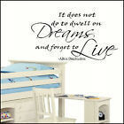 LARGE WALL STICKER HARRY POTTER QUOTE DWELL DREAMS FORGET LIVE UK  ART TRANSFER