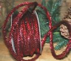 6 yards of Wired TINSEL GARLAND ---- RED