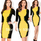 Summer Formal Women Crochet Lace Bodycon Wiggle Pencil Bandage Party Dress Y748
