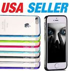 Apple iPhone 5 / 5s Case TPU w Dust Plug Hard Clear Cover Protector SE (2016)