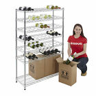 Wine Bottle Rack Chrome Shelving Bar Storage Home Brew Kitchen 4 Sizes BiGDUG