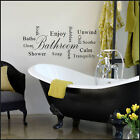 LARGE WALL STICKER FOR BATH BATHROOM BATHE SOOTHE TRANQUILITY NEW UK TRANSFER