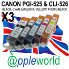 [ANY 15] CLI526 & PGI525 CHIPPED Ink carts compatible with CANON PIXMA printers