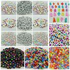 100pcs X 5mm 6mm 7mm Mixed Alphabet Letter Acrylic Beads - Jewellery Making